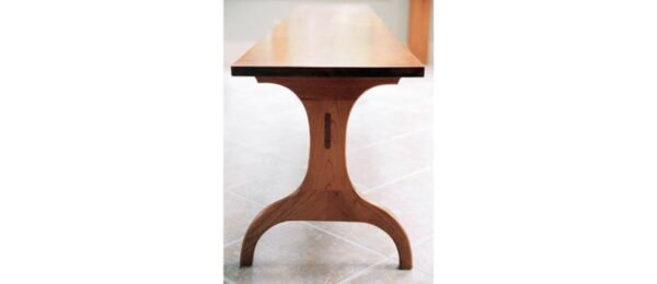 chairs stools seating harvard trestle bench lifestyle2 Trestle Bench