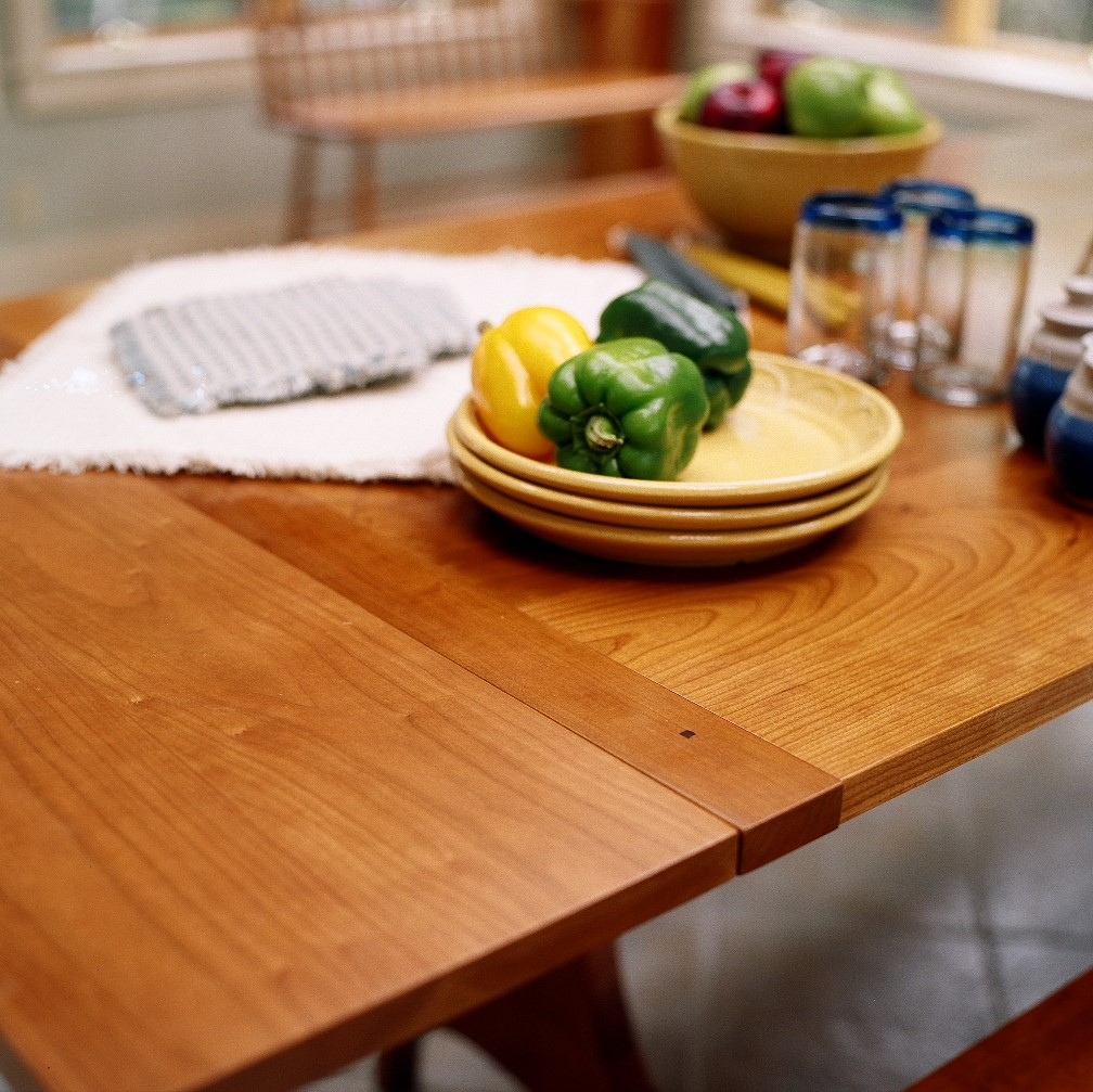 dining table harvard trestle extension leaf cherry Home