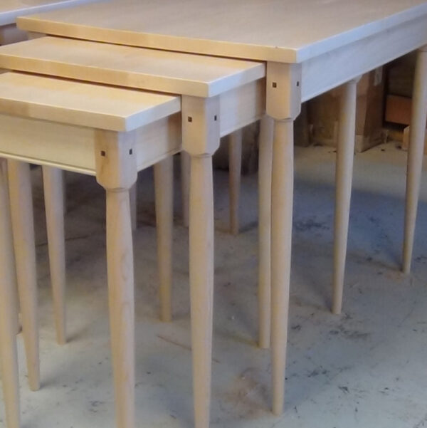 accent tables shaker nesting tables maple walnut pegs Shaker Nesting Tables