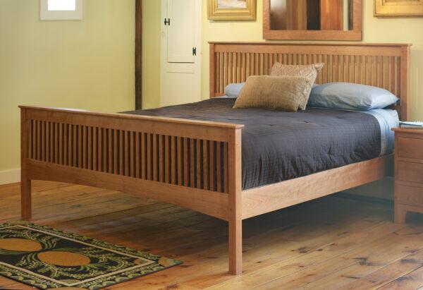 bedroom furniture beds mission spindle bed 1 Mission Spindle Bed