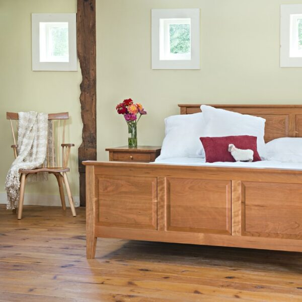 beds bedroom furniture raised panel bed night table side stand Raised Panel Bed