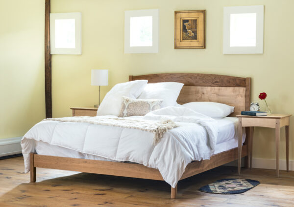 beds frame and panel bed queen cherry maple low footboard Shaker Frame and Panel Bed