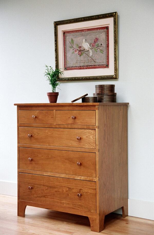 chests bedroom furniture shaker five drawer chest dresser Shaker Five Drawer Chest