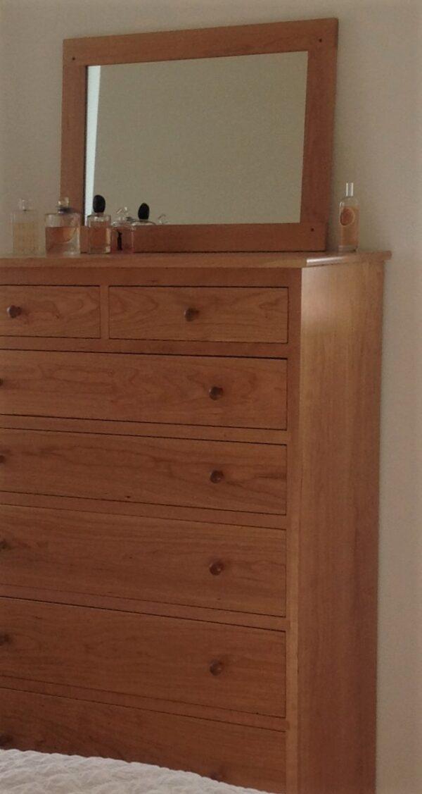 chests dressers bedroom furniture shaker vertical chest seven drawer dresser mirror Shaker Vertical Chest