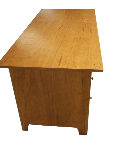 desks bookcases home office double pedestal desk side Double Pedestal Desk