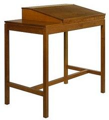 desks bookcases home office shaker standing desk flat surface left Shaker Standing Desk