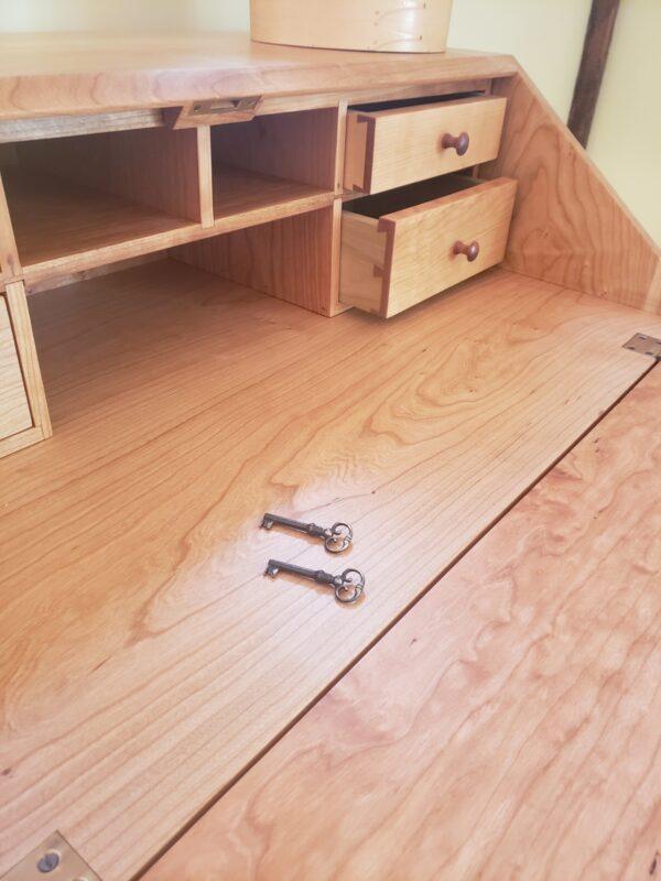 desks bookcases shaker drop front desk home office key lock option rotated Shaker Drop-Front Desk