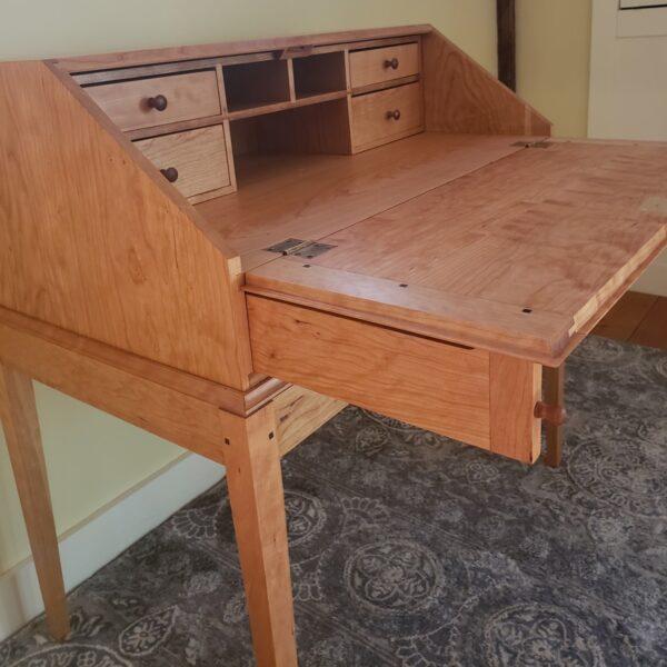 desks bookcases shaker drop front desk home office open Shaker Drop-Front Desk