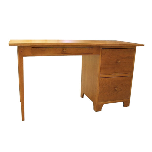shaker writing table with file cabinet