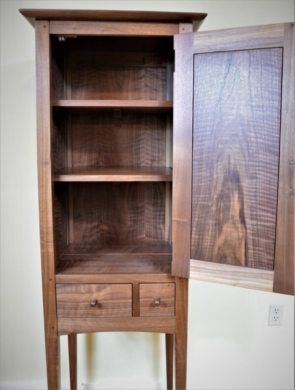 hutches servers chimney cupboard walnut door open Shaker Chimney Cupboard