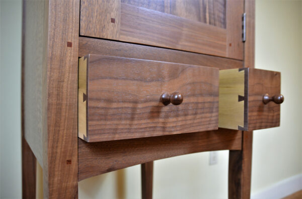 hutches servers chimney cupboard walnut drawers Shaker Chimney Cupboard
