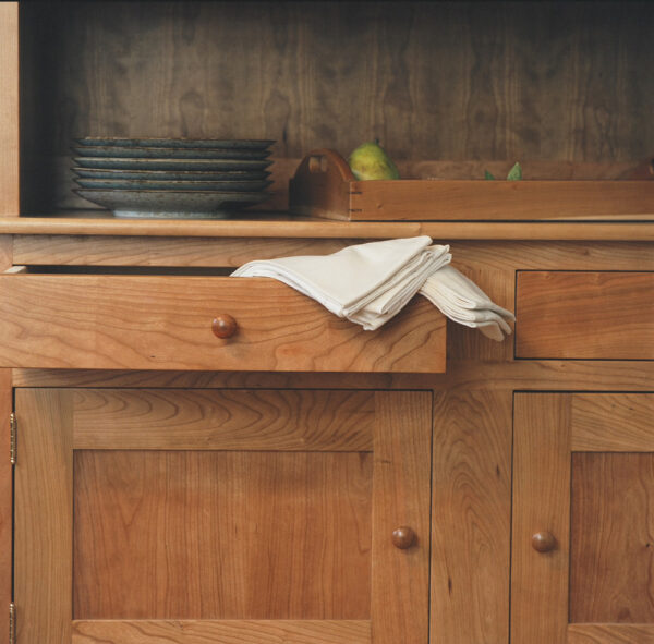 hutches servers shaker double hutch buffet closeup Shaker Double Hutch Buffet