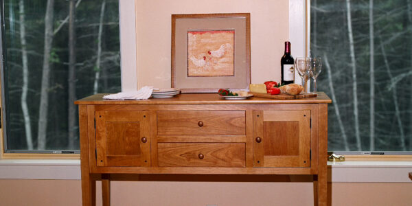 hutches servers shaker sideboard lifestyle 2 Shaker Sideboard