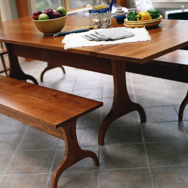 shaker style 0088 chairs stools seating harvard trestle bench lifestyle 1 Trestle Bench