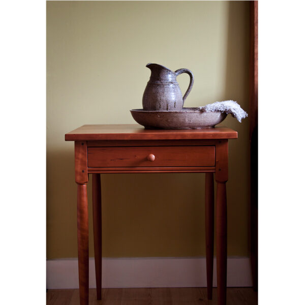 shaker style 0109 accent tables shaker night stand side table round leg Shaker Side Stands & Night Tables