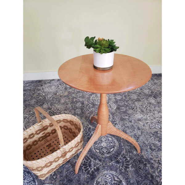 shaker style 0117 accent tables shaker candle stand night stand side table maple Shaker Candle Stand